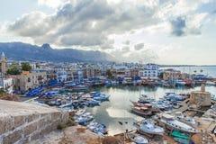 Puerto viejo en Kyrenia, Chipre Fotos de archivo libres de regalías