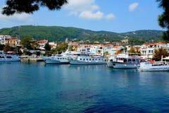 Puerto viejo, Skiathos, Grecia Foto de archivo libre de regalías