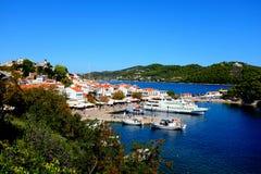 Puerto viejo, Skiathos, Grecia Fotografía de archivo libre de regalías