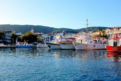 Puerto viejo, Skiathos, Grecia Imagen de archivo libre de regalías