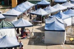 Puerto Vila Dockside Market foto de archivo