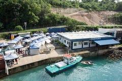 Puerto Vila Market y construcción de las aduanas Imagen de archivo libre de regalías