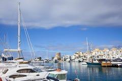 Puerto w Hiszpania Banus zdjęcia stock