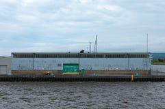 Puerto Warehouse en el puerto de Duluth Imagen de archivo libre de regalías