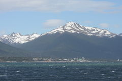 Puerto Williams is a small Chilean town and port on the island of Navarino  to the shore of the Strait of the Beagle channel. Royalty Free Stock Photography