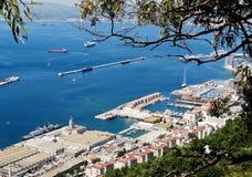 Puerto y acceso de Gibraltar Foto de archivo
