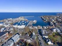 Puerto y adorno número 1, mA, los E.E.U.U. de Rockport Imagenes de archivo
