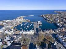 Puerto y adorno número 1, mA, los E.E.U.U. de Rockport Foto de archivo libre de regalías