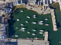 Puerto y adorno número 1, mA, los E.E.U.U. de Rockport Fotografía de archivo