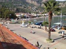 Puerto y barcos de Turquía Turunc Foto de archivo libre de regalías