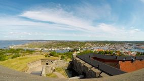 Puerto y castillo de Marstrand almacen de video