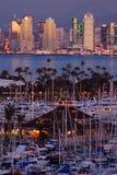 Puerto y puerto deportivo en San Diego imágenes de archivo libres de regalías