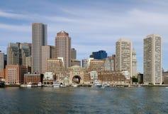 Puerto y horizonte de Boston Imagenes de archivo