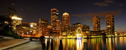Puerto y horizonte de Boston imágenes de archivo libres de regalías