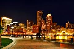 Puerto y horizonte de Boston Imagen de archivo libre de regalías