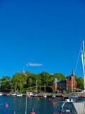 Puerto y mar Báltico de Estocolmo fotos de archivo