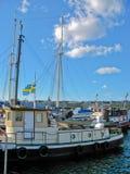 Puerto y mar Báltico de Estocolmo fotos de archivo libres de regalías