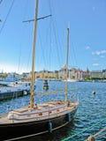 Puerto y mar Báltico de Estocolmo fotografía de archivo