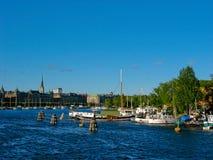 Puerto y mar Báltico de Estocolmo imagen de archivo libre de regalías