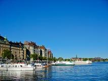 Puerto y mar Báltico de Estocolmo foto de archivo