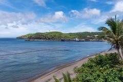 Puerto y playa de Basco en Batanes Fotografía de archivo