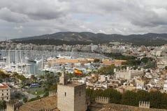 Puerto y playa de Palma de Mallorca Fotografía de archivo