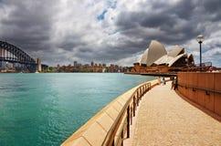 Puerto y teatro de la ópera de Sydney Fotografía de archivo libre de regalías
