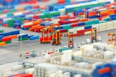 Puerto y terminal de contenedores, Barcelona del cargo Fotografía de archivo libre de regalías