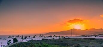 Puertodel carmen zonsondergang stock foto's