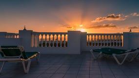 Puertodel carmen zonsondergang Royalty-vrije Stock Afbeeldingen