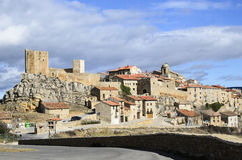 Puertomingalvo, a medieval village Royalty Free Stock Images