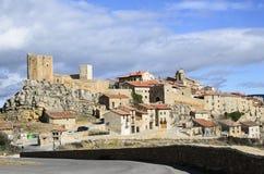 Puertomingalvo, uma vila medieval Imagens de Stock Royalty Free