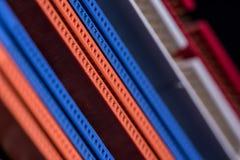 Puertos coloridos de la placa madre del ordenador Fotos de archivo libres de regalías