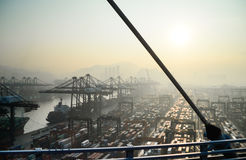 Puertos comerciales Foto de archivo