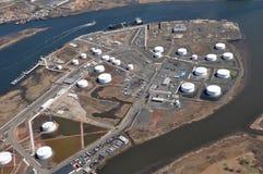 Puertos marítimos de antena del río Hudson Fotografía de archivo libre de regalías