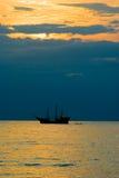 puertosolnedgångvallarta Royaltyfri Fotografi