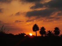 Puesta de sol en Torrevieja/Sunset in Torrevieja Royalty Free Stock Image