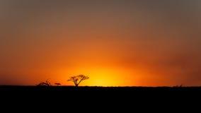 Puesta del sol África fotografía de archivo