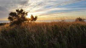 Puesta del sol Ã¥t Gotland Fotografía de archivo libre de regalías