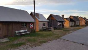 Puesta del sol Ã¥t Gotland Fotos de archivo libres de regalías