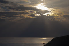 Puesta del sol épica fotos de archivo