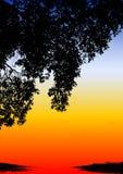 Puesta del sol étnica coloreada Imágenes de archivo libres de regalías