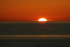 Puesta del sol única Imagenes de archivo