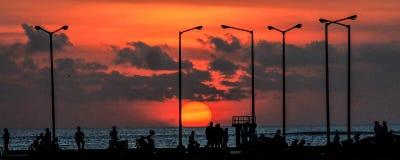 Puesta del sol 8 foto de archivo libre de regalías