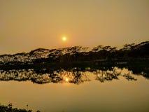 Puesta del sol foto de archivo