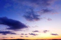 Puesta del sol 2 del invierno Foto de archivo libre de regalías