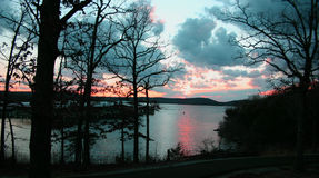 Puesta del sol 2 del lago fotos de archivo
