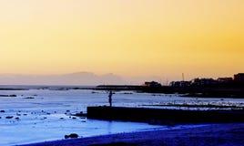 Puesta del sol. Imagen de archivo