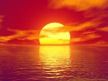 Puesta del sol libre illustration