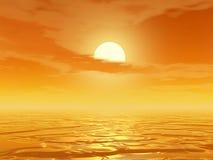 Puesta del sol stock de ilustración